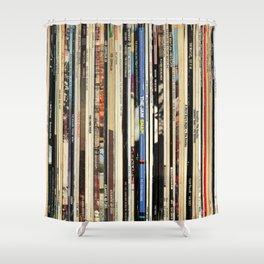 Classic Rock Vinyl Records Duschvorhang