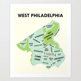 West Philadelphia Version 2 Art Print