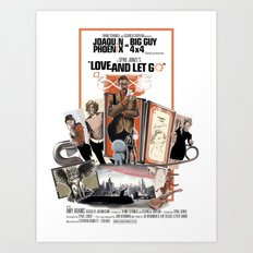 Love and Let Go - Movie poster mash-up Art Print
