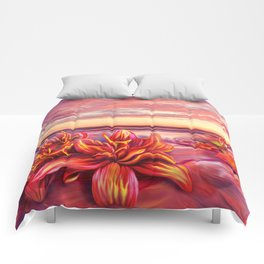 Radioactive flowers Comforters