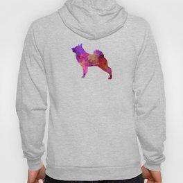 Norwegian Elkhound in watercolor Hoody
