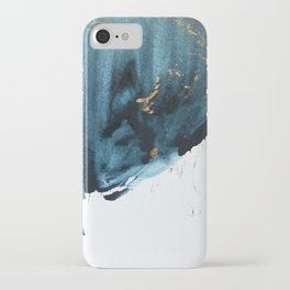 Sapphire and Gold Abstract iPhone Case