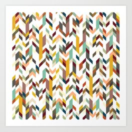 Geometric Chaos Art Print