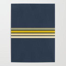 Racing Retro Stripes Poster