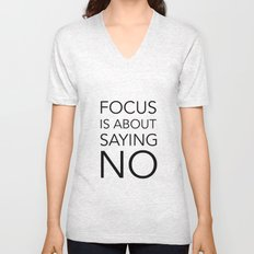 Focus is about.... Unisex V-Neck