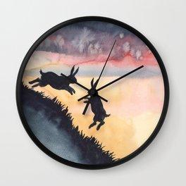 Sunset Leap Wall Clock