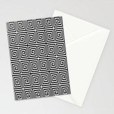 Acropolis 1 Black Stationery Cards