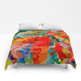 color bubble storm Comforters