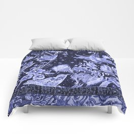 Violet Night Nature Scene Comforters