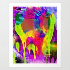 Grunge Abstract Watercolour 4 Art Print