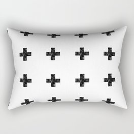 Watercolor Swiss Cross (White) Rectangular Pillow