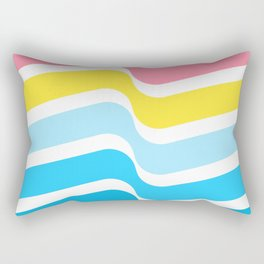 The troubled scene Yellow blue White and red  abstract; new gray decorations;Love is allowed Rectangular Pillow