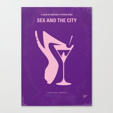 No308 My Sex and the City minimal movie poster Canvas Print