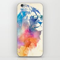 blue iPhone & iPod Skins featuring Sunny Leo   by Robert Farkas