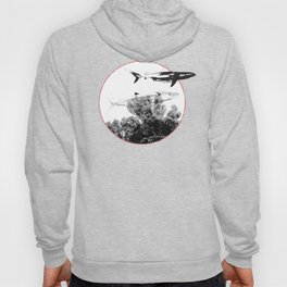 Underwater Abstract Fishes Design Hoody