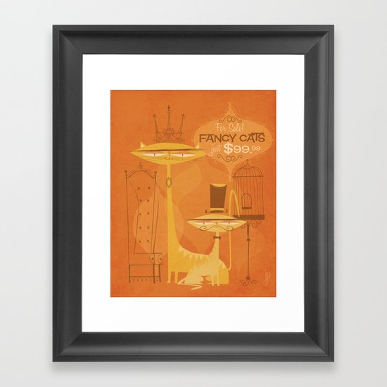 Fancy Cats Framed Art Print