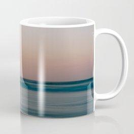 Soft sunset beach photo || coastal nature photography || seascape, sun, long exposure || pastel travel digital art print Coffee Mug