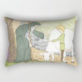The Mysterious Man's Mysterious Beans Rectangular Pillow
