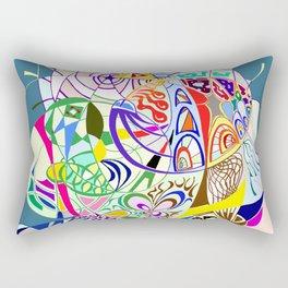 Filanes-45 couleur fond bleu Rectangular Pillow