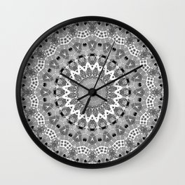 Black and white mandal Wall Clock