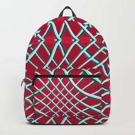 Red Grids and Grooves Backpack