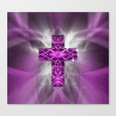 Purple Cross Canvas Print