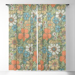 70s Plate Sheer Curtain