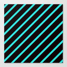 Blue & Black Stripes Canvas Print