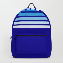 Retro Stripes on Blue Backpack