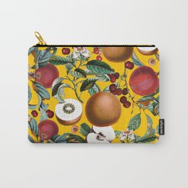 Vintage Fruit Pattern V Carry-All Pouch