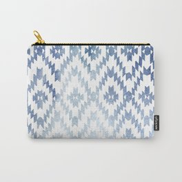 Indigo Ikat Print 3 Carry-All Pouch