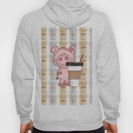 Mr Pig Loves His Coffee Hoody