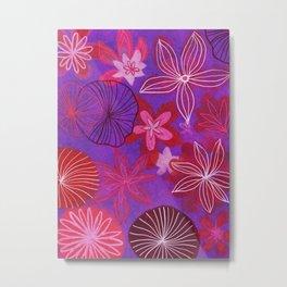 purple and red flowers Metal Print