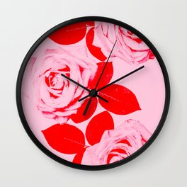 Pretty In Pink (Red) Wall Clock