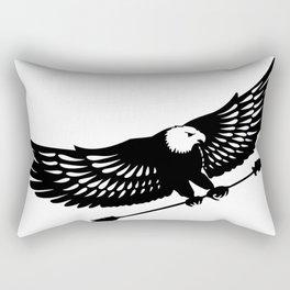 The Black Eagle Rectangular Pillow