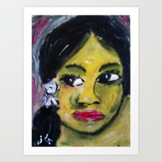 GAUGUIN GIRL4 Art Print