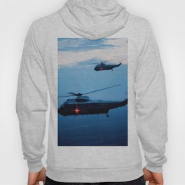 Support Helicopters Fly at Dusk Hoody