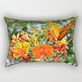 Orange Wings Rectangular Pillow