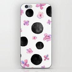Flora dots iPhone & iPod Skin