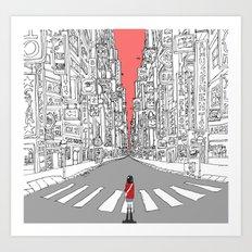 Lonely Metropolis Art Print