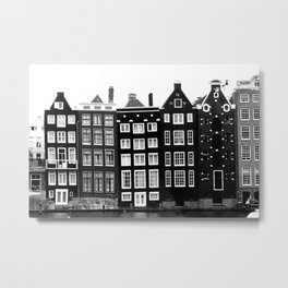 The canal houses of Amsterdam Metal Print