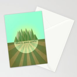 Reach clearly your goals  Stationery Cards