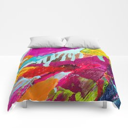 Abstract from Krewe de Femmes collection Comforters