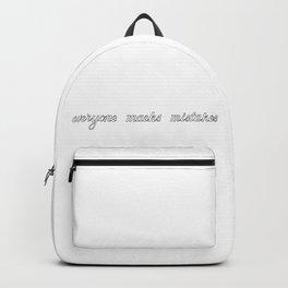 Everyone maeks mistakes Backpack