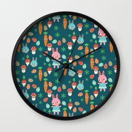 The Easter Bunny Wall Clock
