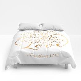 Faith, Hope & Love Comforters