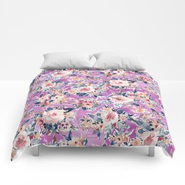 ROMANTIC AF Colorful Wild Floral Comforters