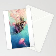 Sea Turtle and Jellyfish! Stationery Cards
