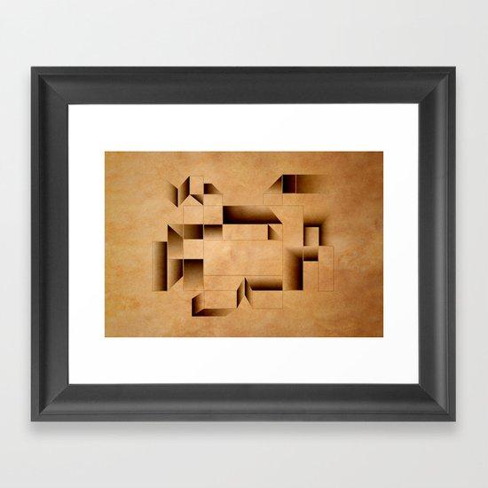 cubist invader. Framed Art Print