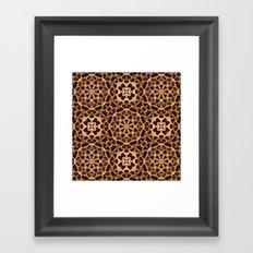 Leopard Fur Abstract Kaleidoscope Print Framed Art Print